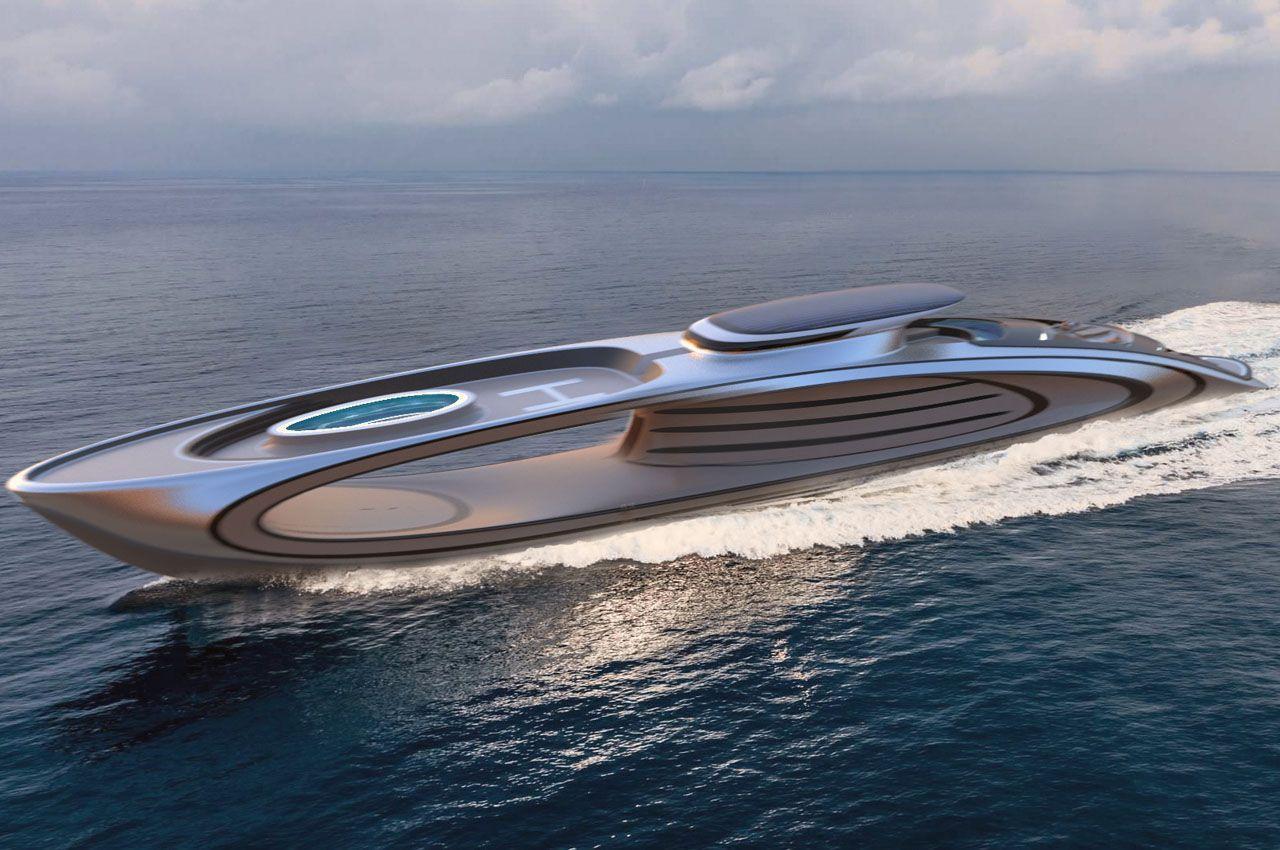 Элегантная суперяхта с выдолбленным центром бросает вызов миру роскошных яхт