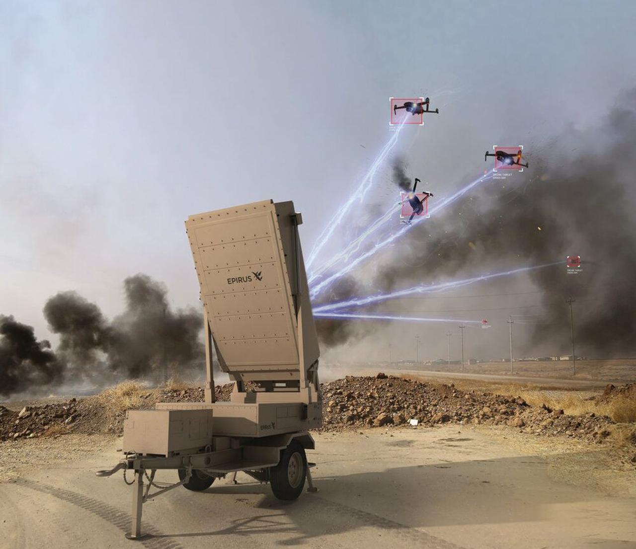 Leonidas, мобильное микроволновое оружие уничтожит стаи дронов