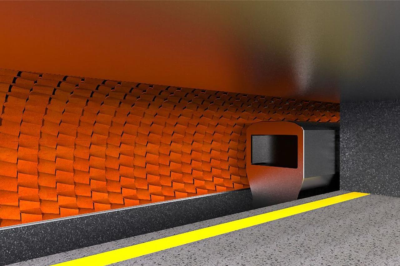 Система терракотовых плиток с водой обеспечит естественное охлаждение станций метро без использования электричества
