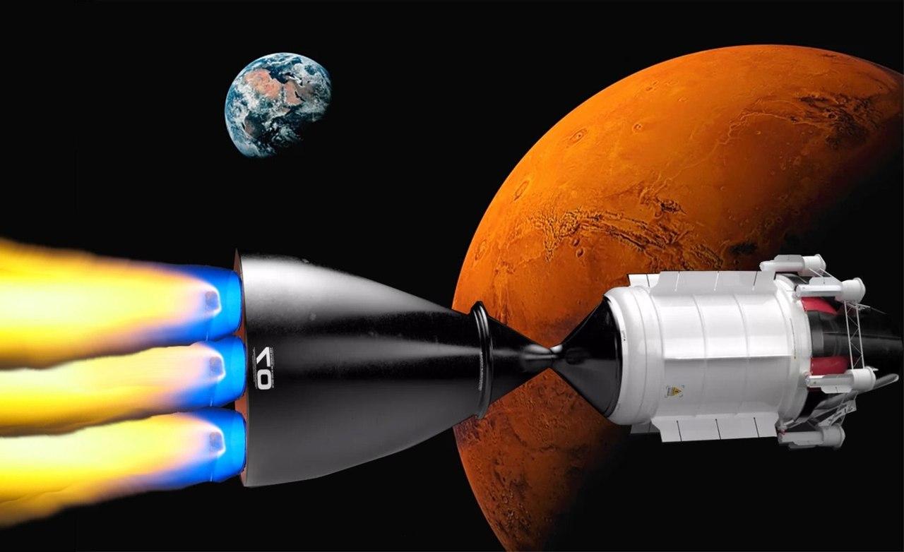 Новый двигатель с ядерным топливом позволит добраться до Марса за три месяца