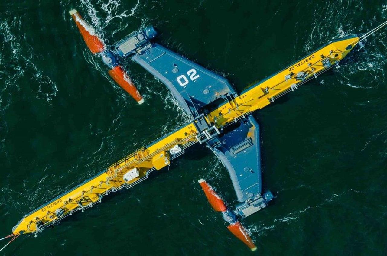 Приливная турбина O2 на 680 метрических тонн обеспечит электроэнергией 2000 домов в Великобритании