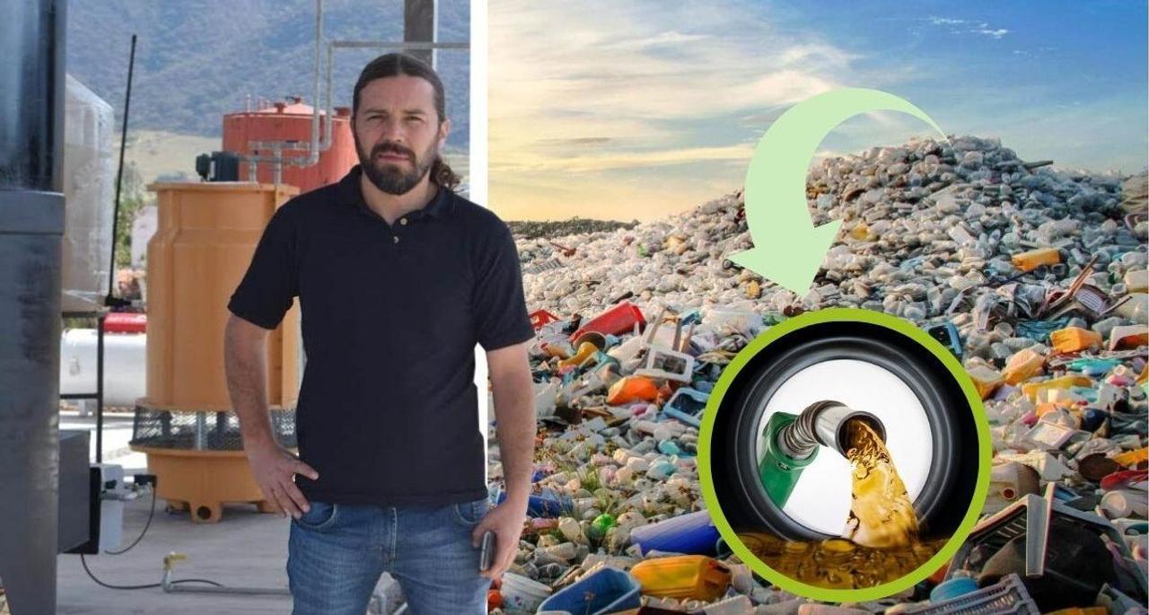 Мексиканец перерабатывает пластиковые отходы в дешевое топливо для автомобилей, в производственных масштабах