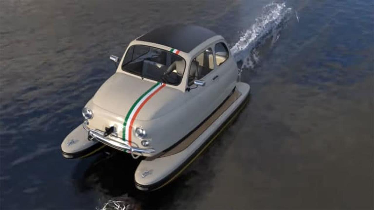 Floating Motor превращает легендарные классические автомобили в элегантные плавсредства