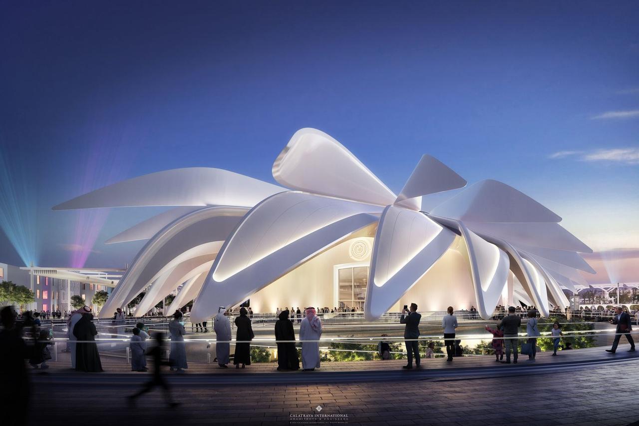Дизайн павильона ОАЭ для Expo 2020 Dubai: 28 удивительных крыльев собирающих энергию