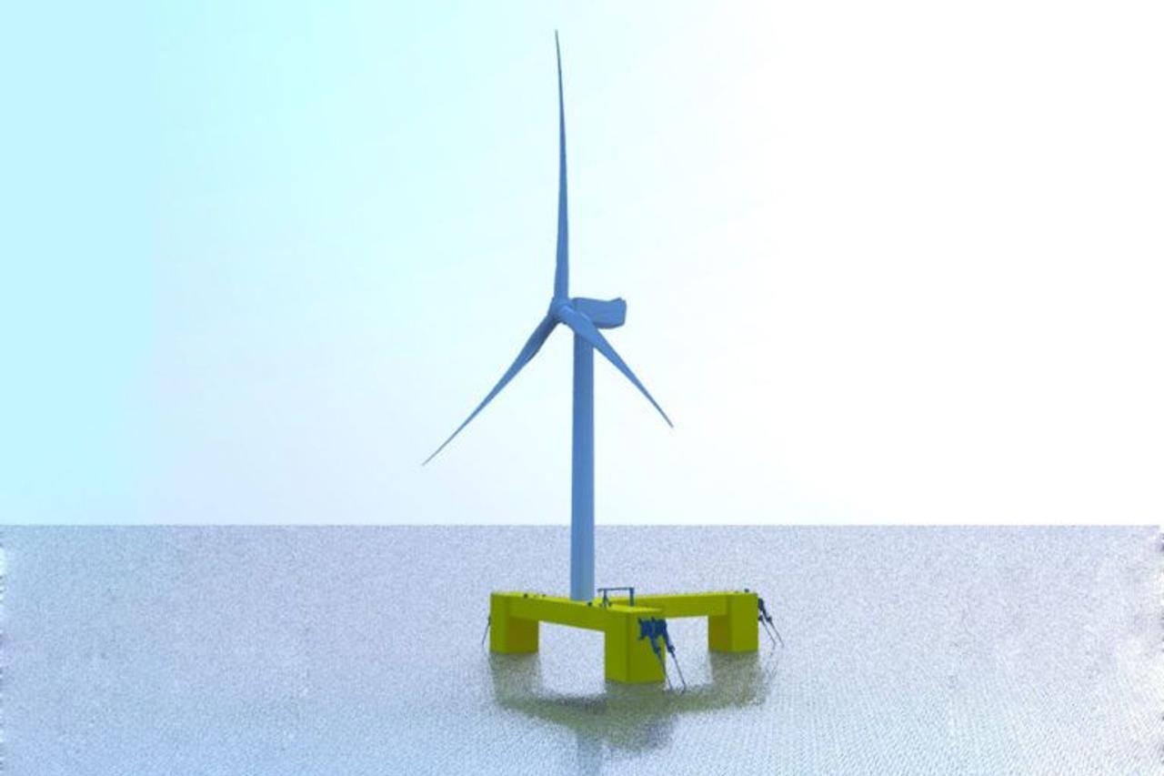 Samsung Heavy Industries разрабатывает модель морского поплавка - ветрогенератора мощностью 9,5 МВт
