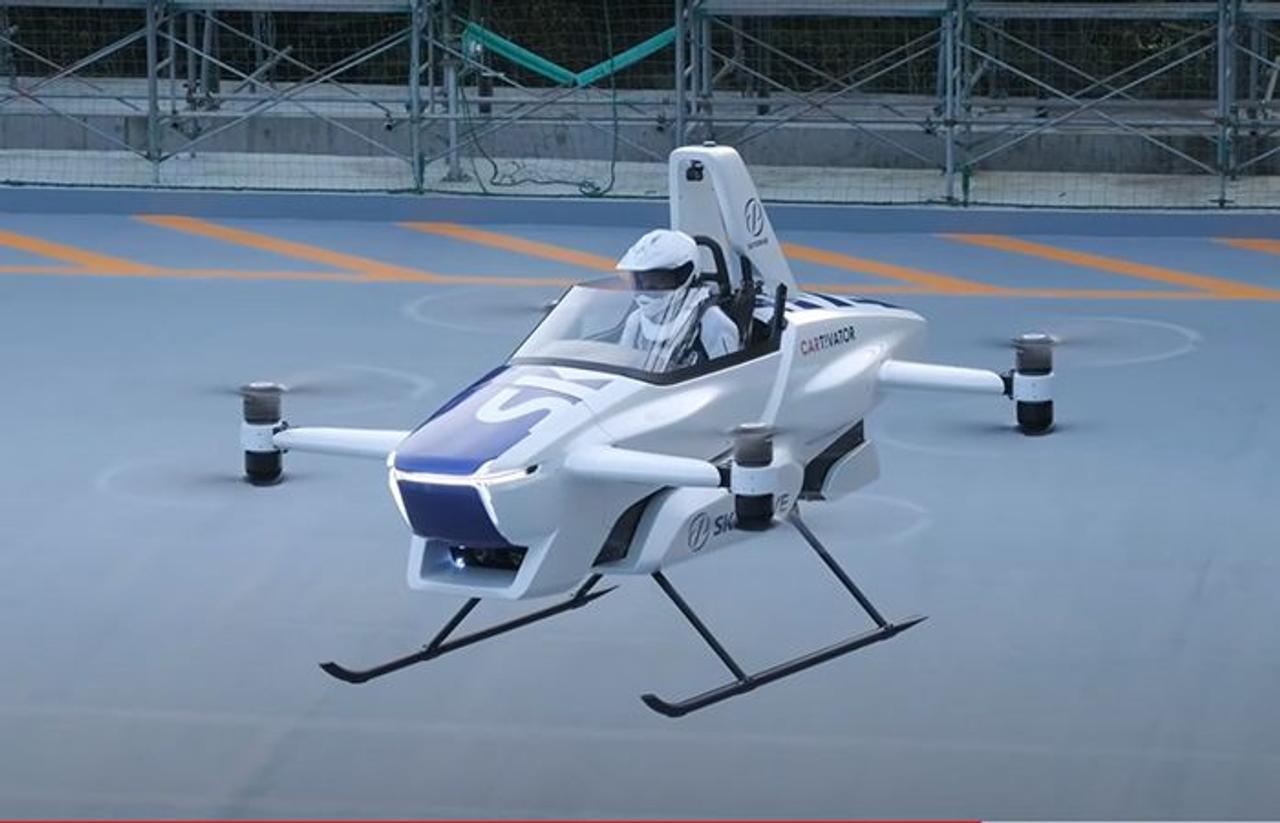 SkyDrive SD-03 - персональный летающий автомобиль eVTOL созданный японскими инженерами