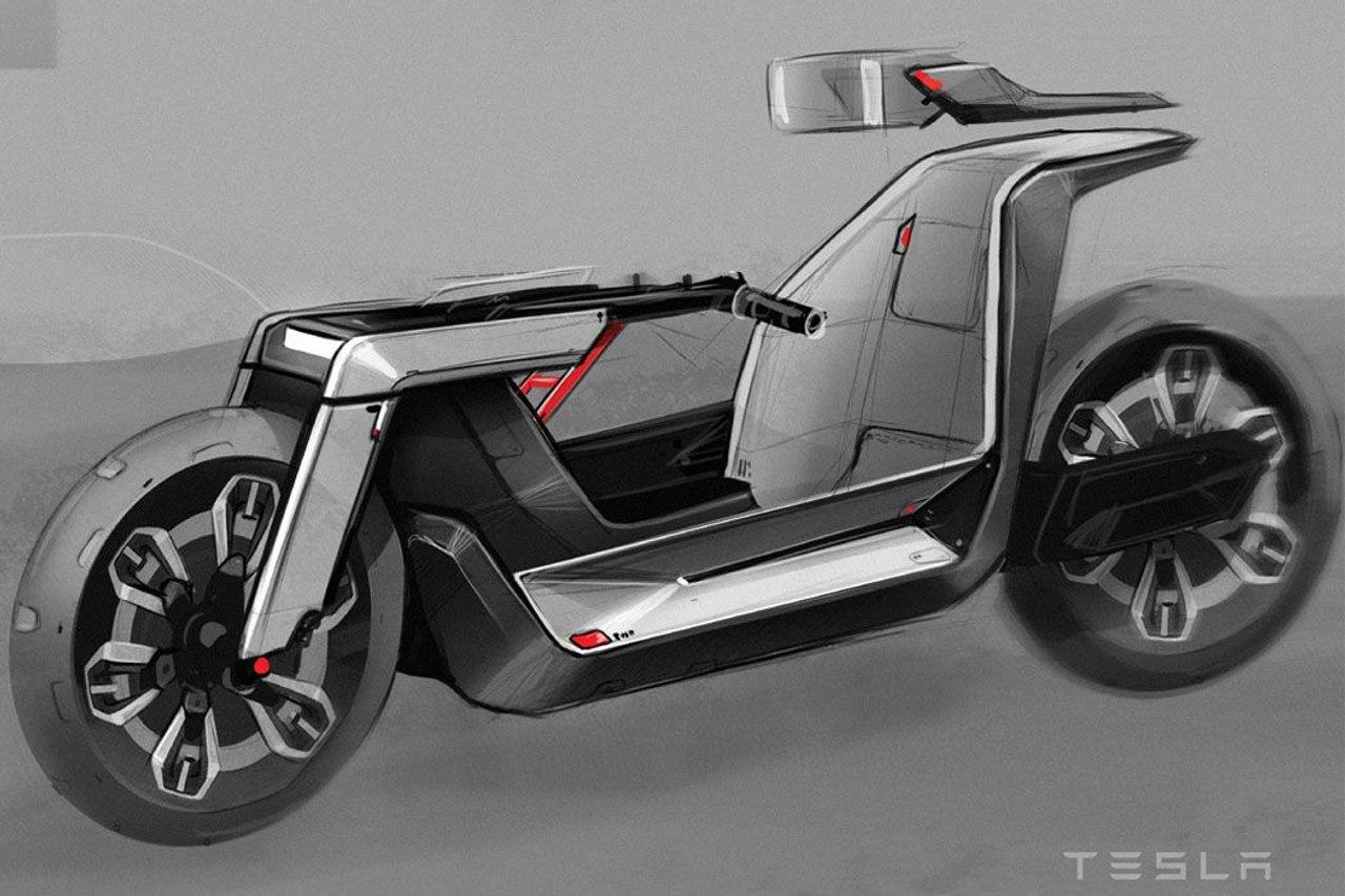 Tesla Model C - концепт футуристического электрического веломобиля