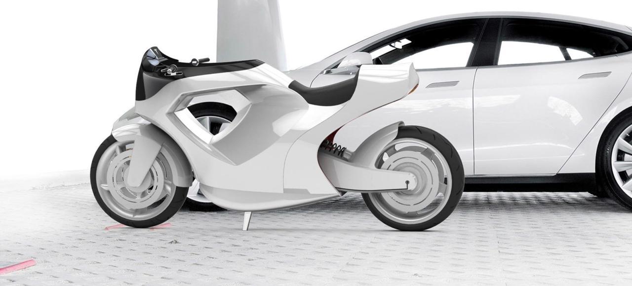 Концепт электрического мотоцикла Tesla Model M. Будет ли Илон Маск производить электромотоциклы?