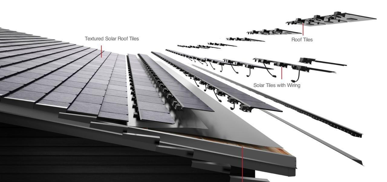 Tesla показала видео как «солнечная крыша» Tesla Solar Roof автоматически самоочищается от снега