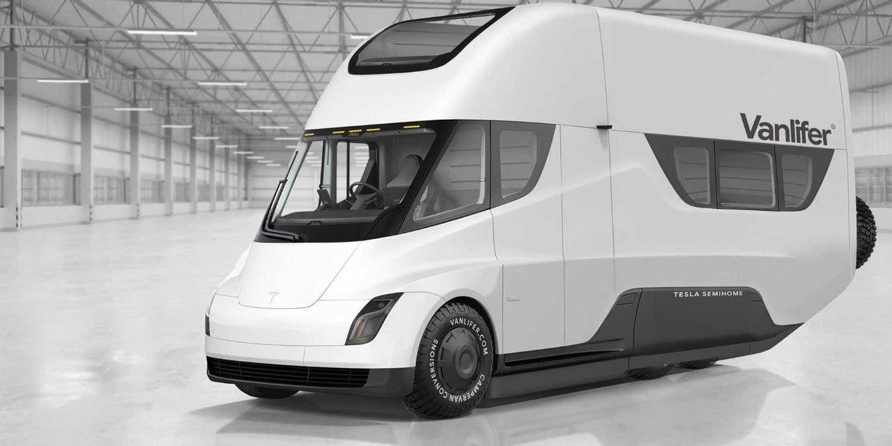 Илон Маск рассказал о перспективах создания электрического фургона Tesla с выдвижной крышей на солнечной энергии