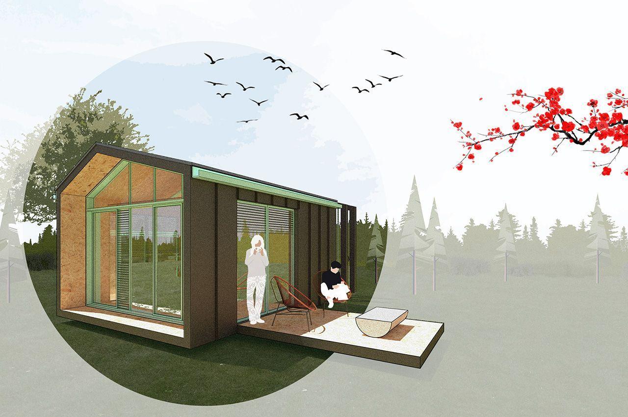 Сборный модульный дом Micro Home, можно расширять при необходимости