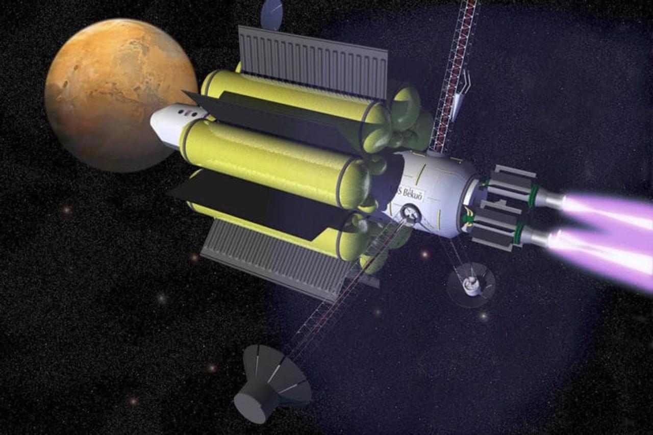 Космический корабль, с плазменным двигателем, доставит на Марс астронавтов всего за 90 дней