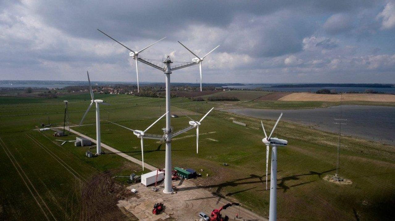 Ветровые турбины с четырмя роторами имеют явное преимущество и стоят на 15% дешевле