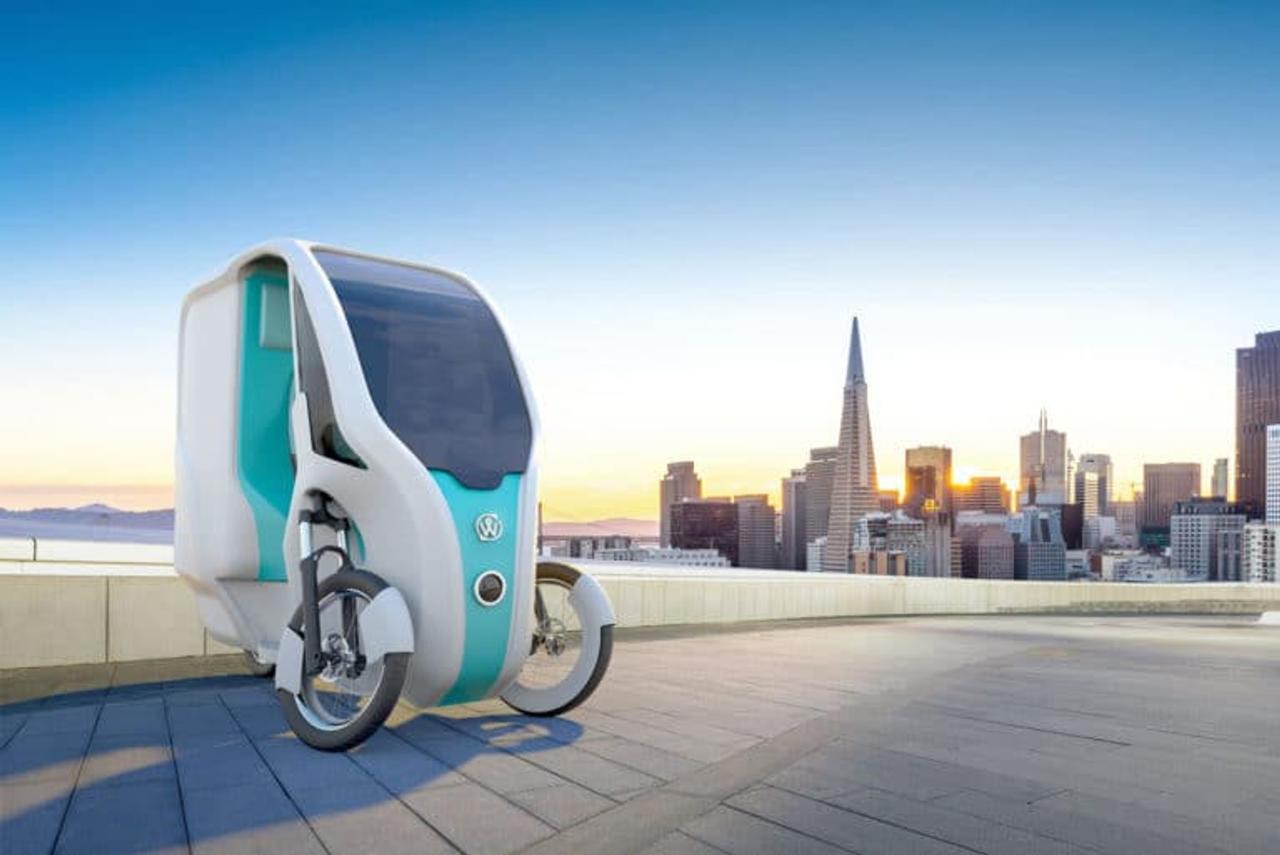 Электрический трехколесный велосипед Wello Family, работает от солнечной энергии