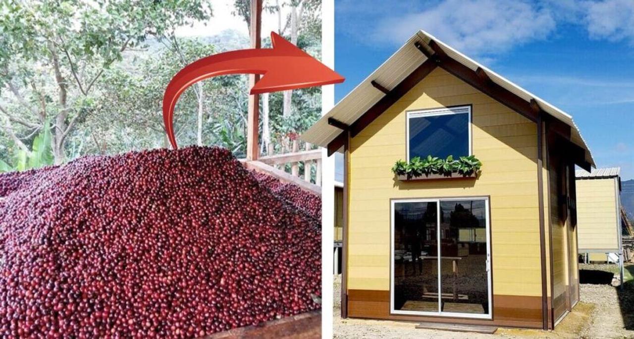 Сверхдешевые дома строят из кофейной шелухи и переработанного пластика