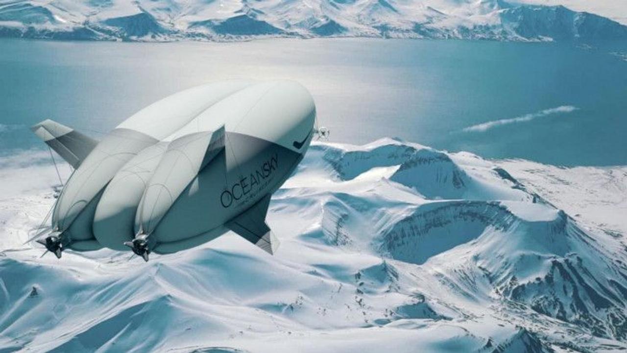 Новый дирижабль компании OceanSky Cruises стартует с круизами на Северный полюс