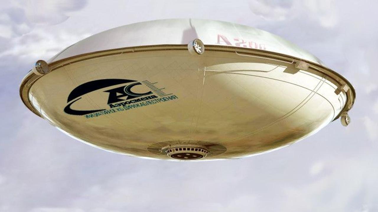 Российская компания Aerosmena планирует строительство огромных грузовых дирижаблей в форме «летающей тарелки»