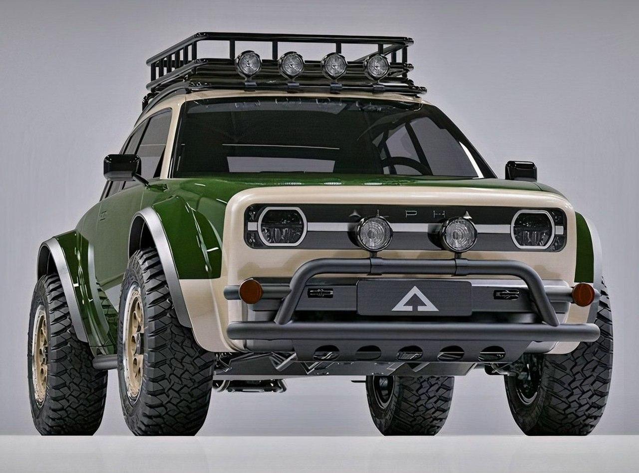 Alpha JAX, новый раллийный автомобиль с двухмоторным полным электроприводом