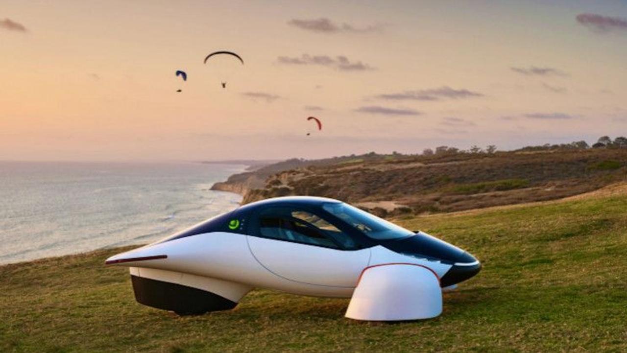 Трехколесный электромобиль Aptera на солнечных батареях вышел в новой версии «Белая жемчужина»
