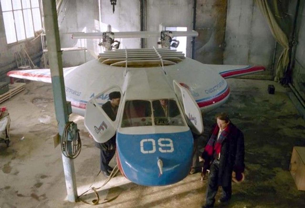 Уникальный проект самолета «Бэлла-1» - способного «сесть» на любую поверхность: на землю, на воду и на снег
