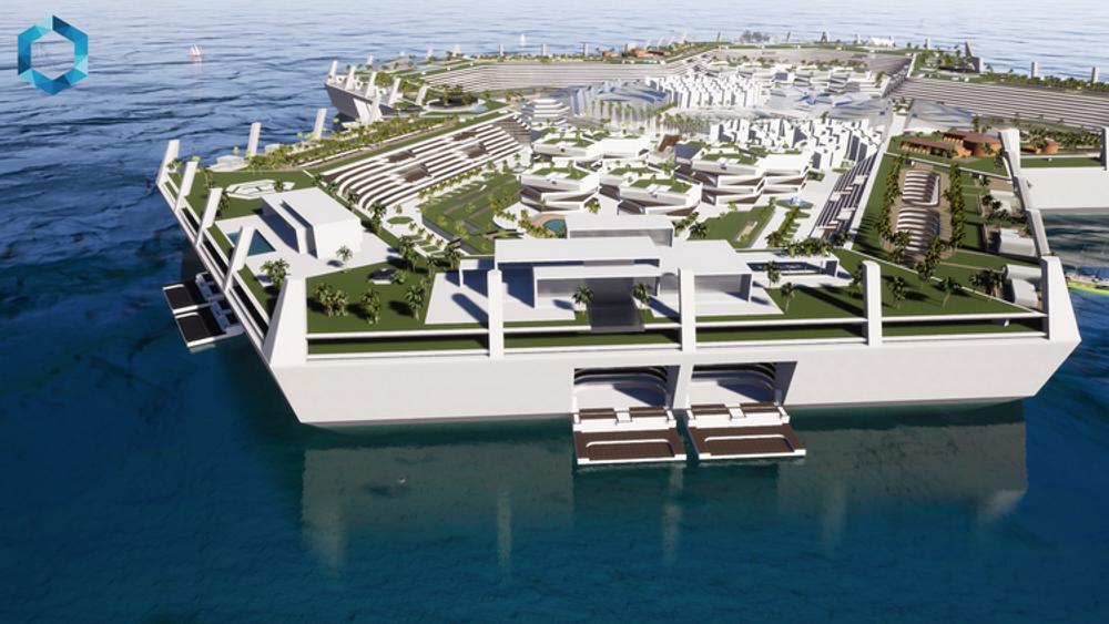 В Карибском море создали плавучий остров Blue Estate - безналоговый «плавучий рай»