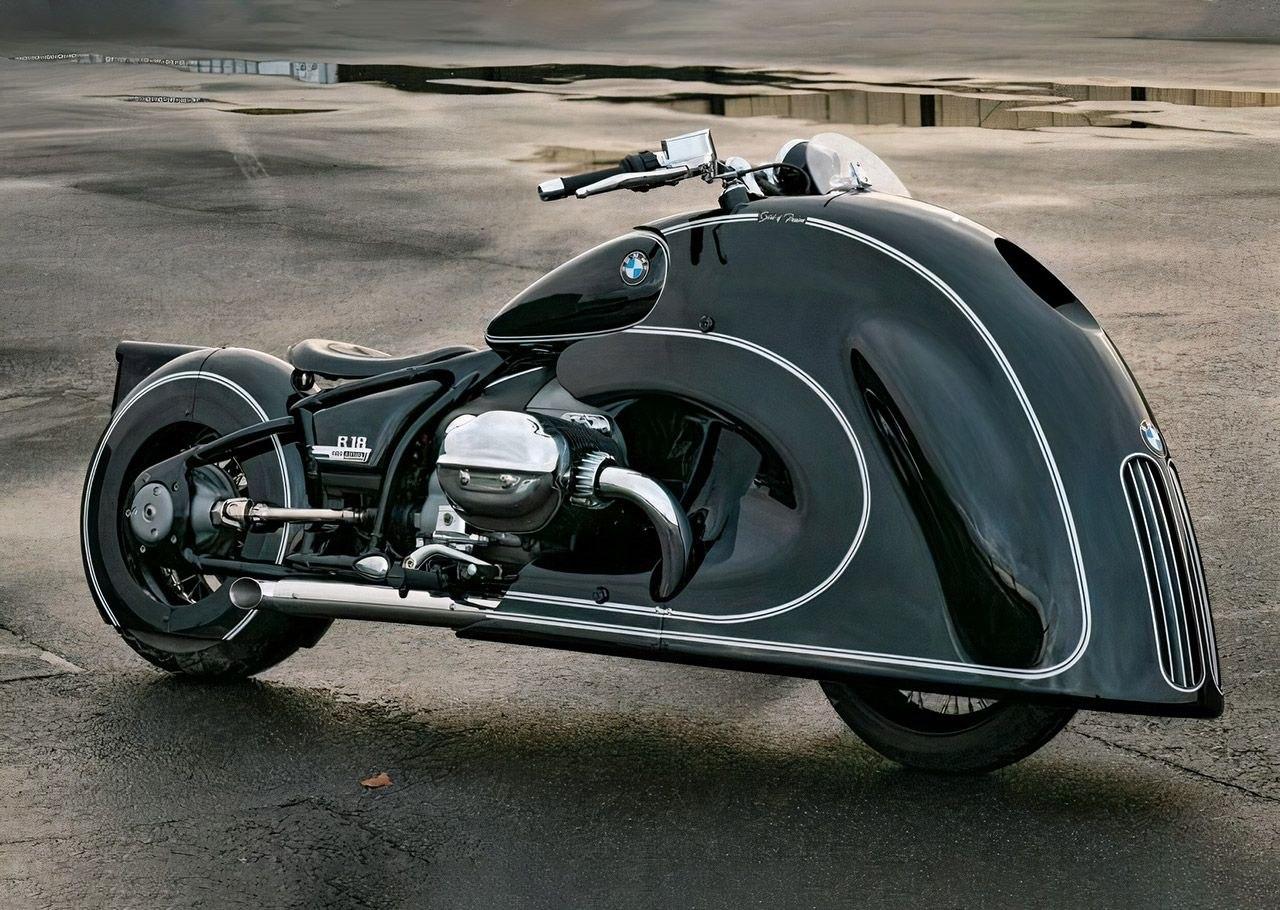 Мотоцикл BMW Motorrad R 18 «Spirit of Passion» от Kingston Custom - шедевр арт - деко
