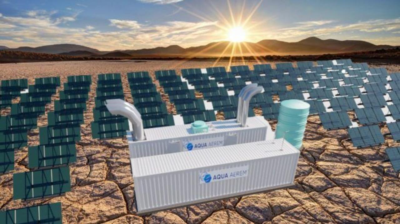 Aqua Aerem будет извлекать воду из жаркого воздуха пустыни и преобразовывать ее в водород