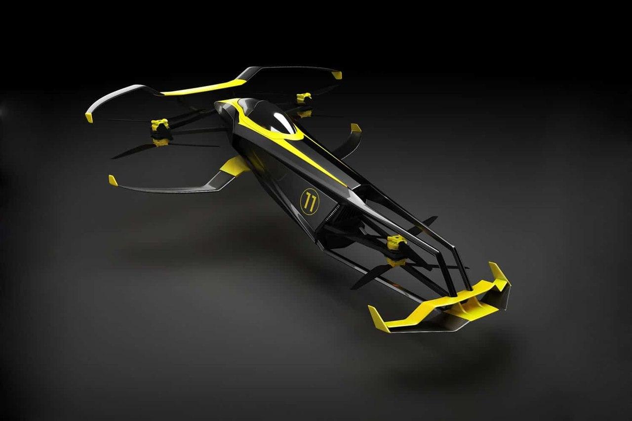 Компания MACA разрабатывает первый в мире летающий гоночный болид на водородном топливе