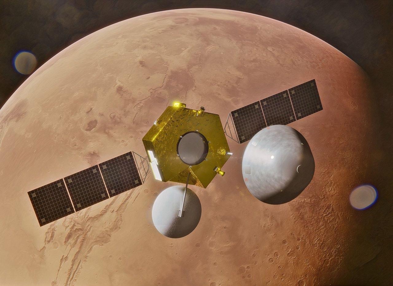Китай показал первое видео выхода космического корабля Tianwen-1 на орбиту Марса