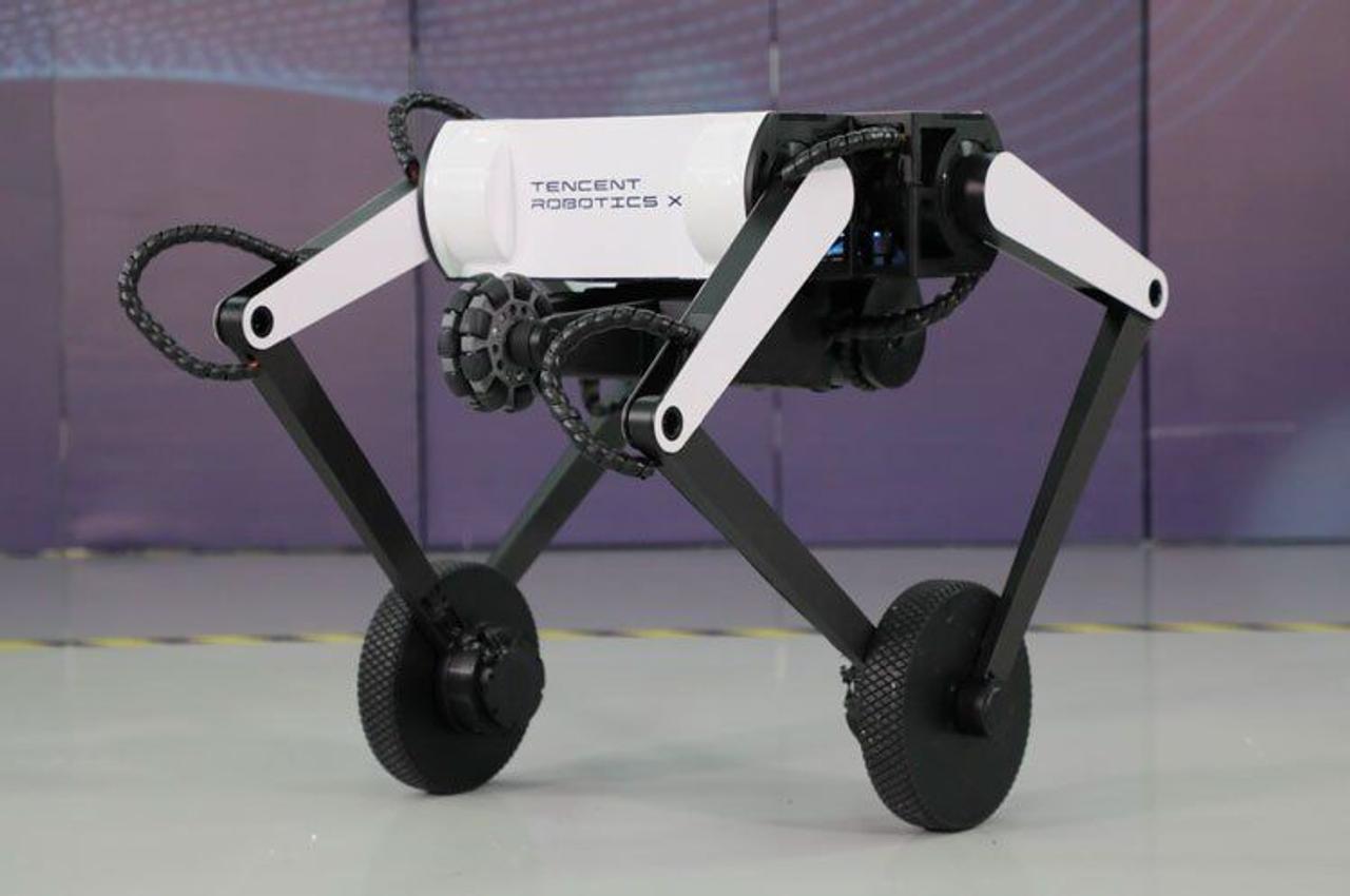 Китайская компания Tencent представила двухколесного робота-акробата Ollie