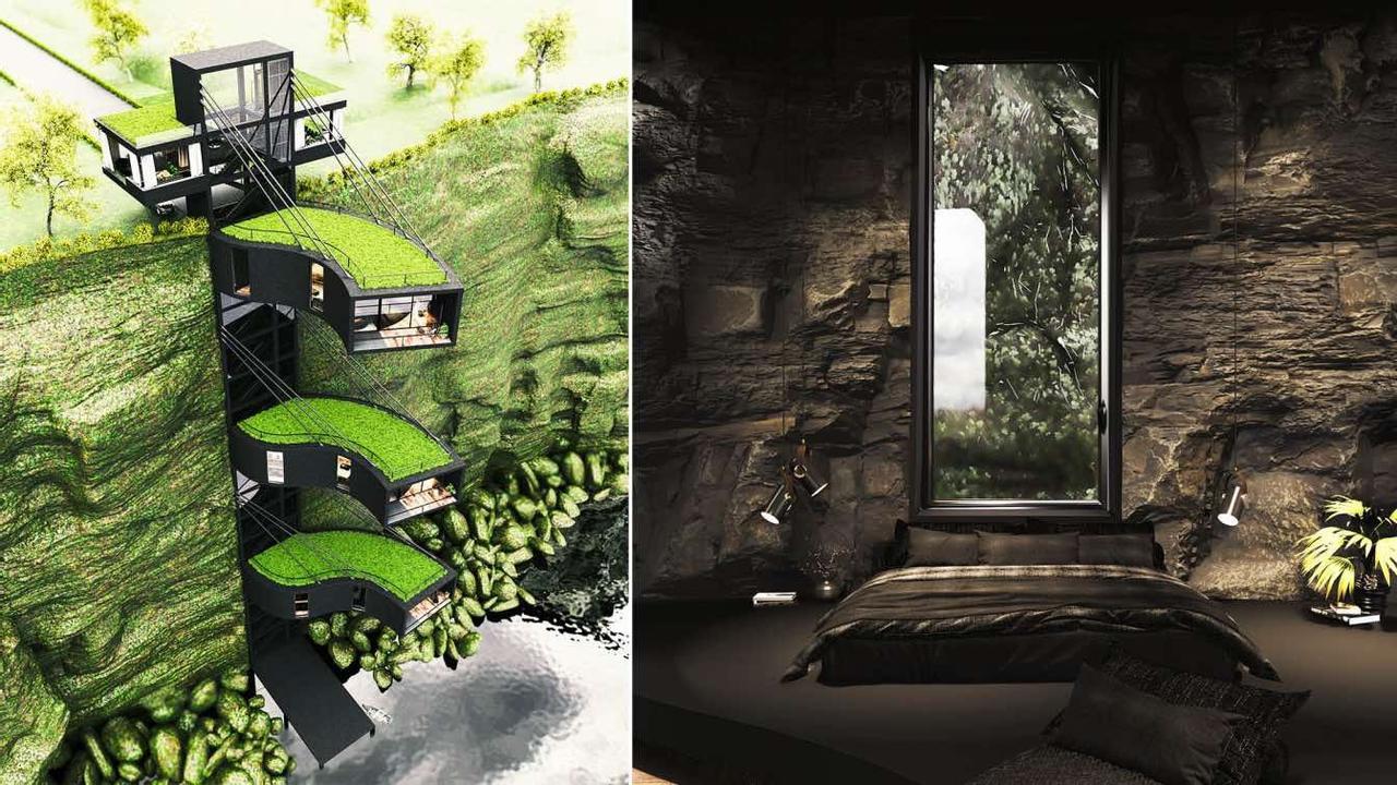 Дом Cliff House на вершине скалы погружает в спокойствие, тишину и гарантирует комфортную жизнь