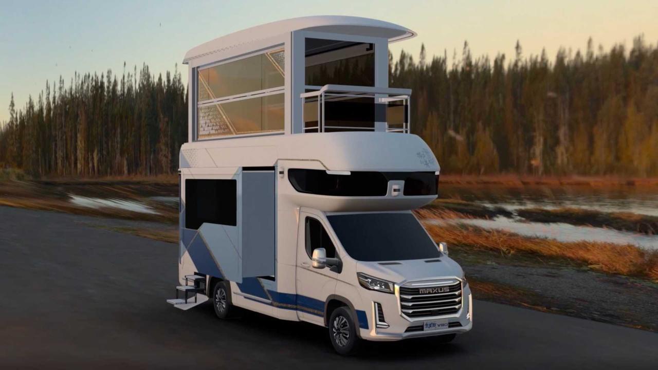 Maxus Life Home V90 Villa Edition RV - двухэтажный дом на колесах с универсальным дизайн
