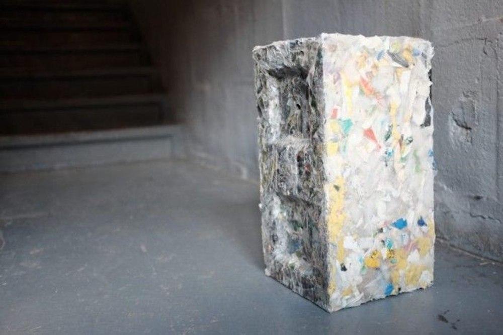Экологичные строительные блоки из пластиковых отходов
