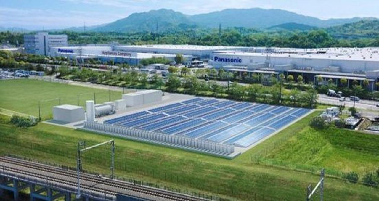 Panasonic совместит водородную установку с фотоэлектрическими элементами и накопителями