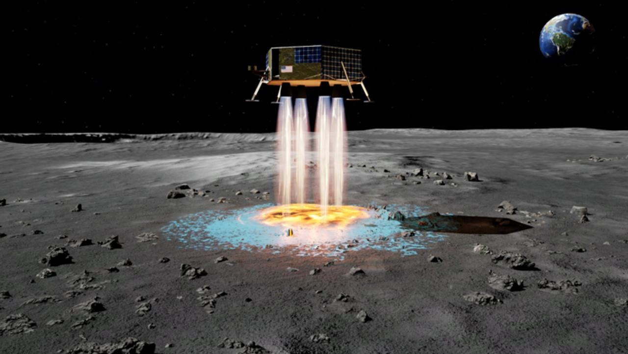 Технология распыления глинозема в полете FAST позволит лунным посадочным модулям создавать собственные посадочные площадки
