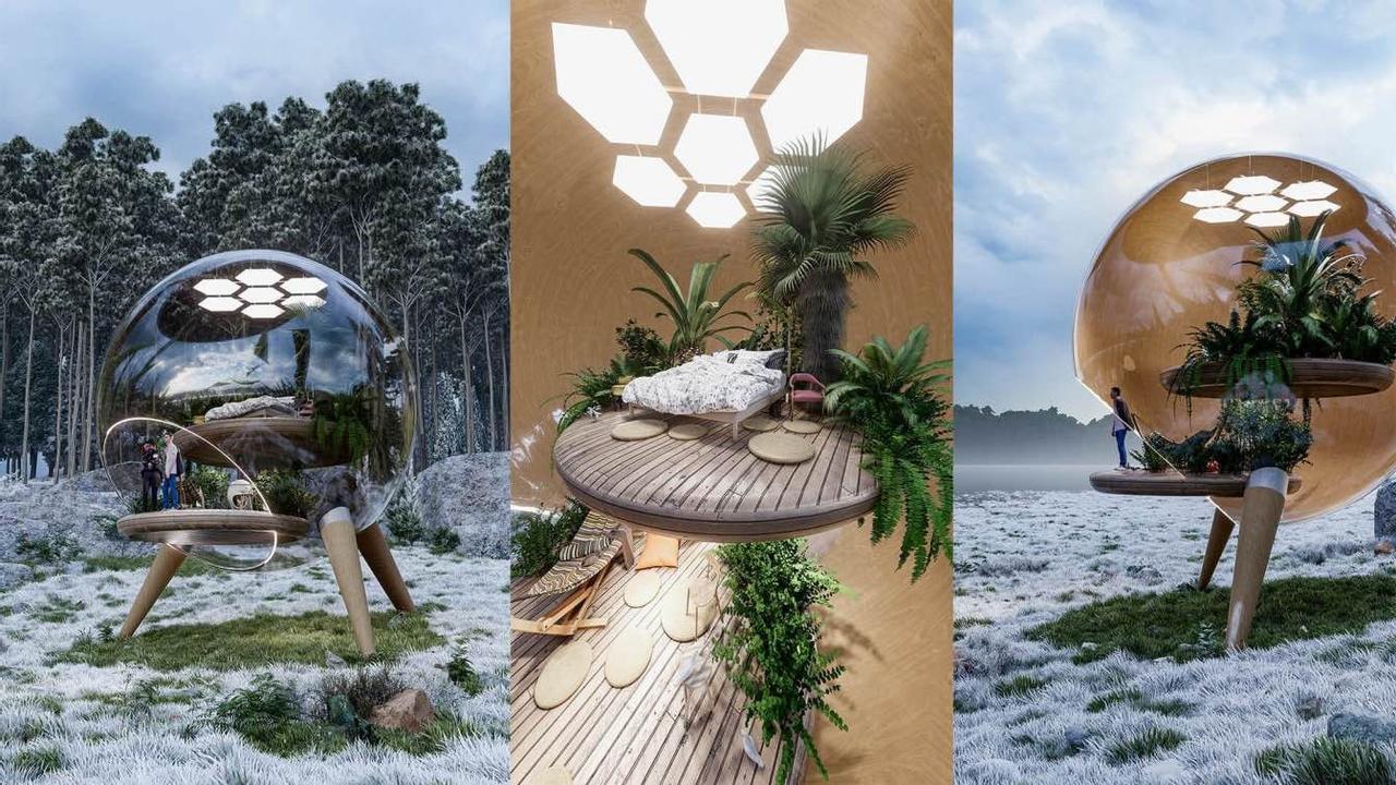 Стеклянный дом похожий на аквариум, поможет нам объединится с природой