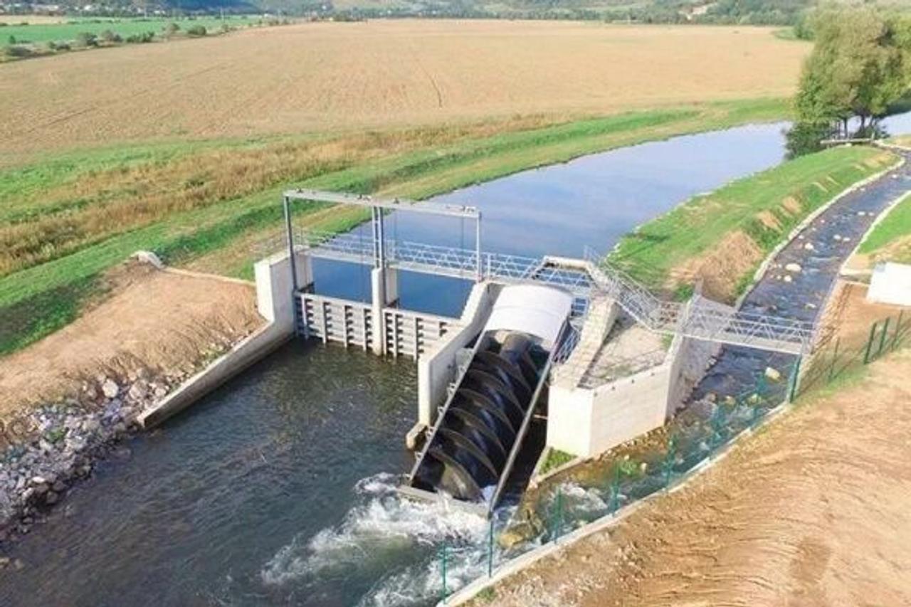 Мини ГЭС со шнековыми турбинами, КПД - до 85%