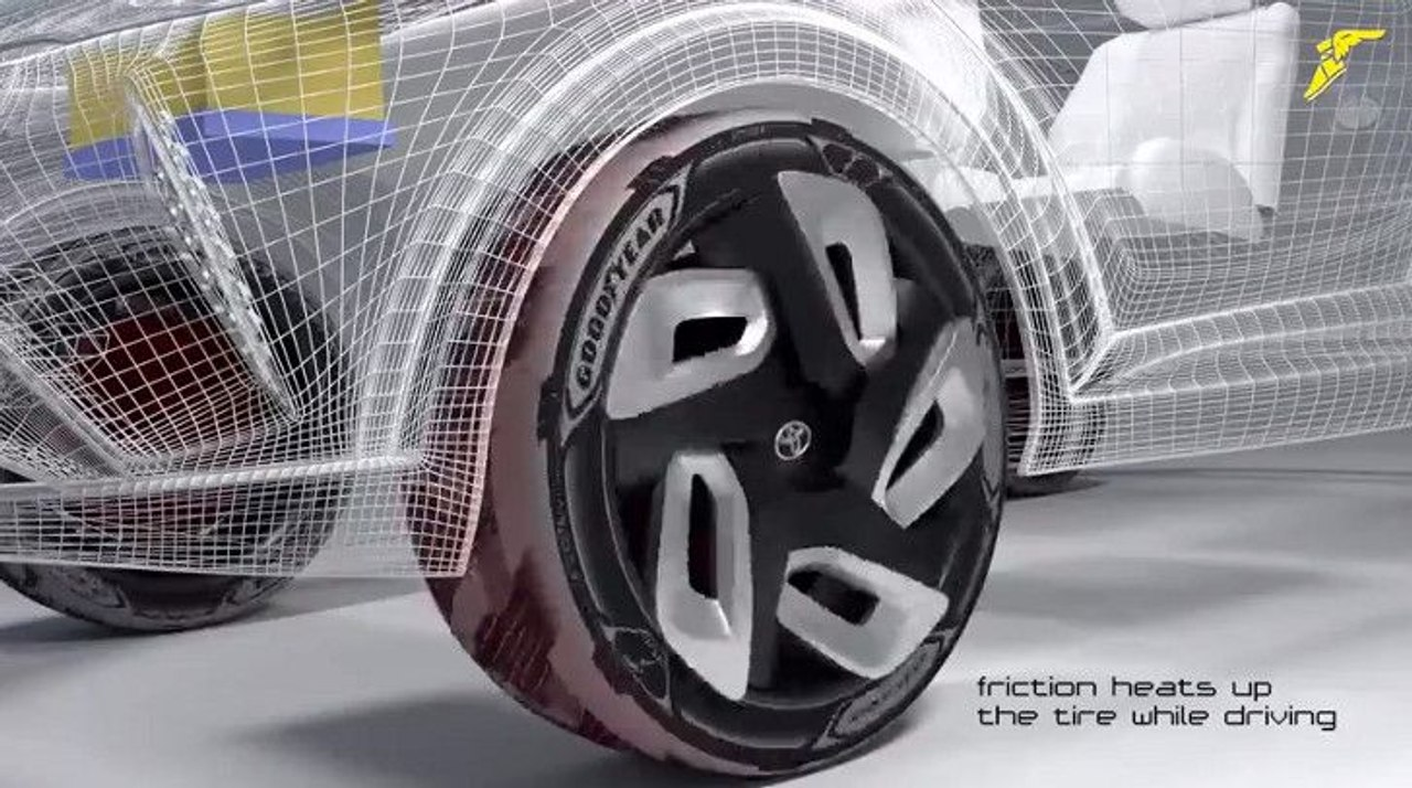 Инновационные шины от Goodyear будут заряжать электромобили