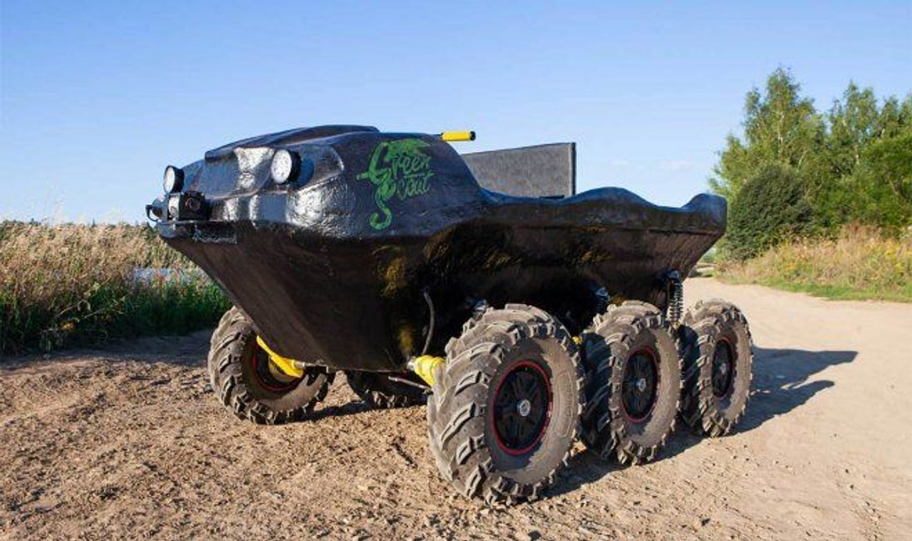 Российские инженеры совместно с геологами работающими на крайнем Севере разработали шестиколесную амфибию Green Scout