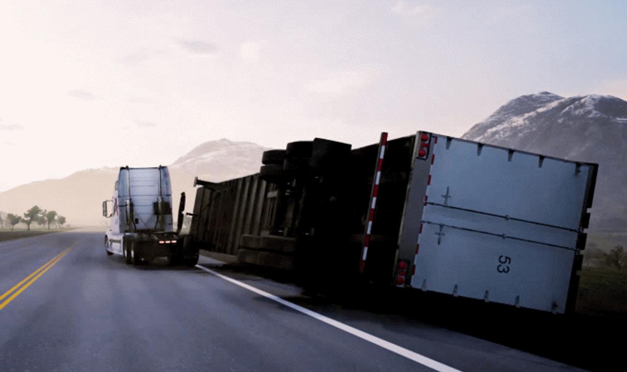 Автосброс спасет тысячи водителей грузовиков при опрокидывании прицепа