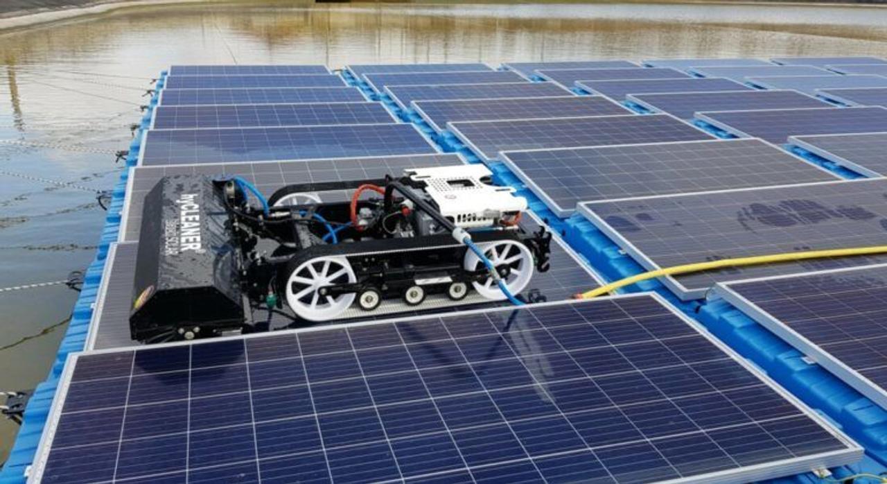Робот - уборщик для очистки плавающих фотоэлектрических модулей, идеальное решение для солнечных ферм