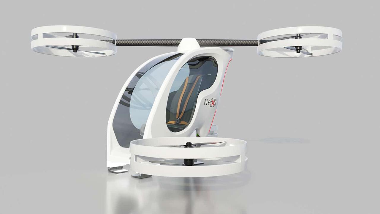 NeXt представил персональный электрический летательный аппарат для безопасных полетов