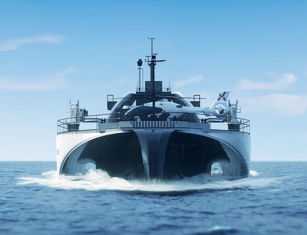 Разработан первый автоматизированный тримаран для транспортировки чистой энергии
