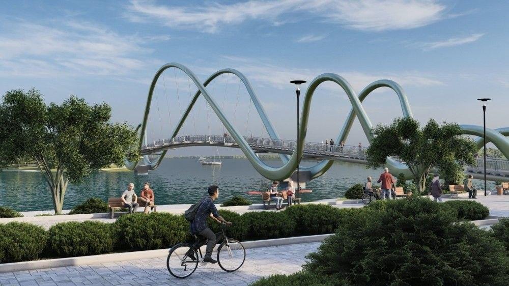 В Киеве на Оболонской набережной построят пешеходный мост