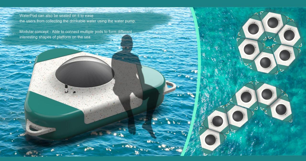 Опреснительная установка WaterPod, работающая на солнечной энергии, преобразовывает морскую воду в питьевую