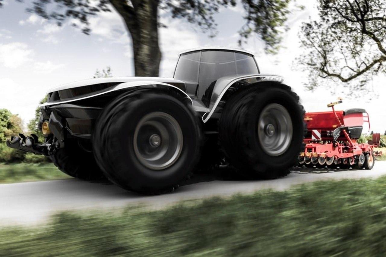 Футуристический самоходный трактор Tesla, был бы похож на Valtra H202