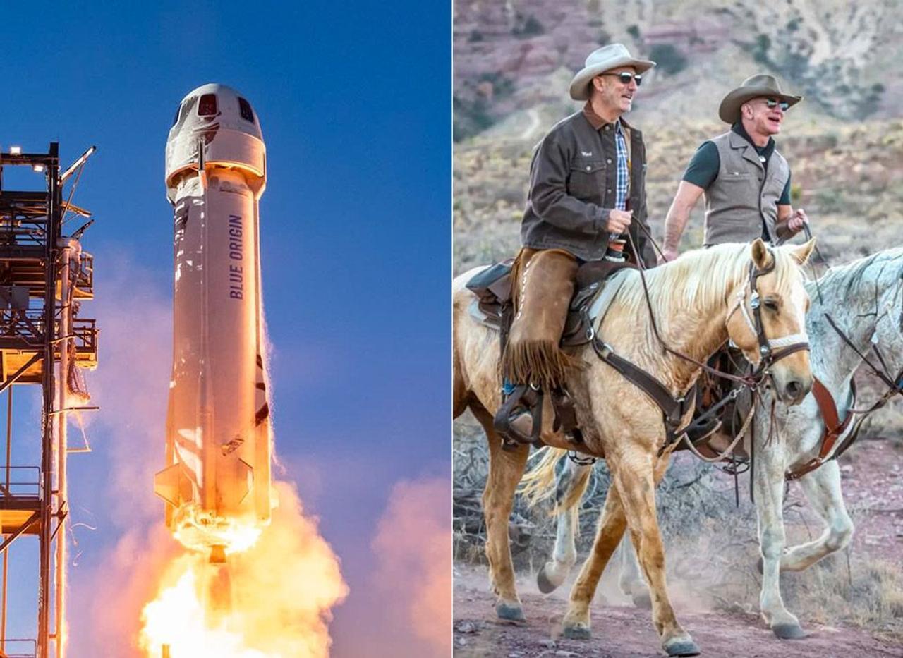 Джефф Безос со своим братом полетят в космос на космическом корабле Blue Origin, во время первого запуска