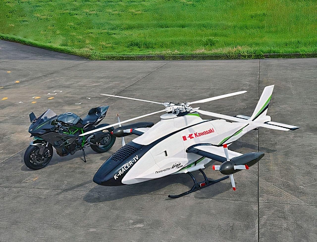 Автономный вертолет Kawasaki K-Racer разработан для предотвращения стихийных бедствий