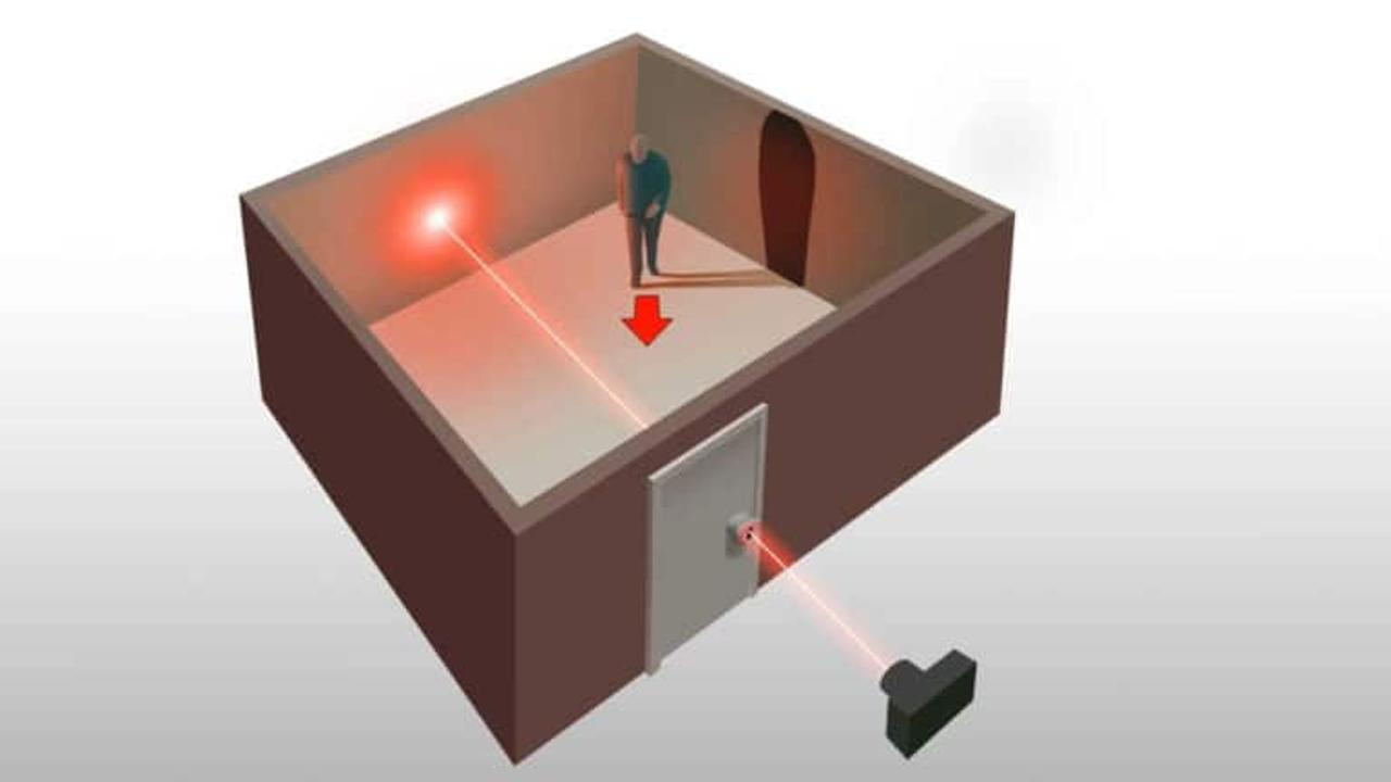 Лазерный снимок сделанный через замочную скважину покажет все, что находится в закрытой комнате