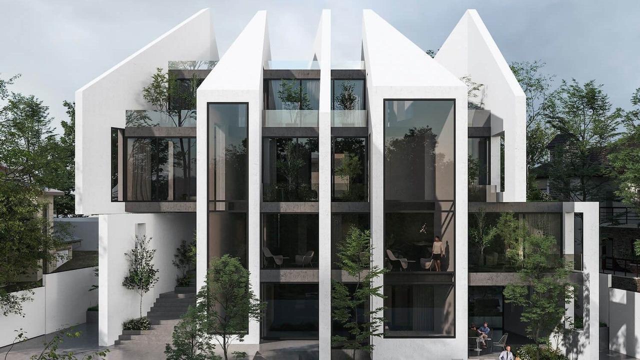 Иранская геометрическая вилла Layers призвана обезопасить и защитить человека от суровых климатических условий